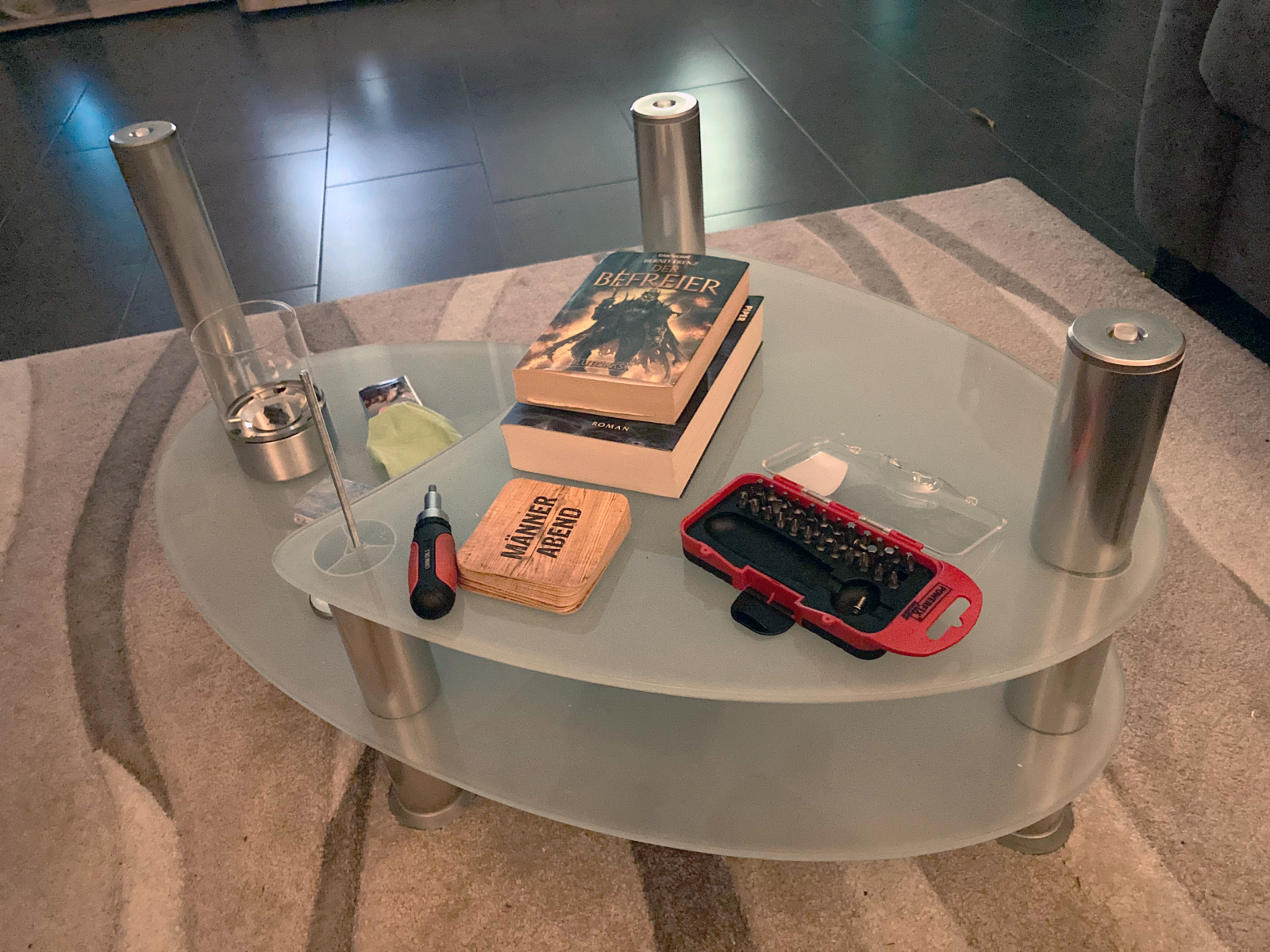 Der Tisch vorher