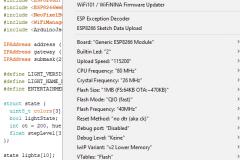 Arduino Einstellungen für ESP8266-01S
