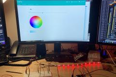 Steuerung der Lampe über das Webinterface
