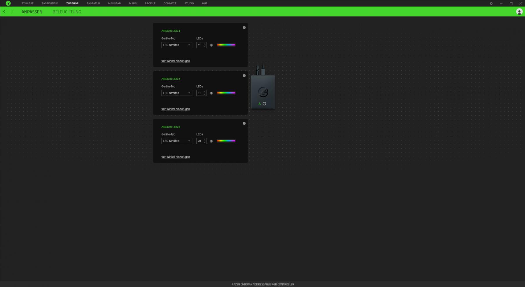 Razer Chroma RGG Controller Konfiguration