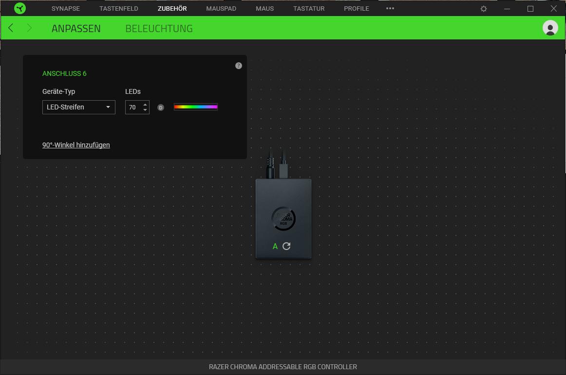 Razer RGB-Controller Konfiguration